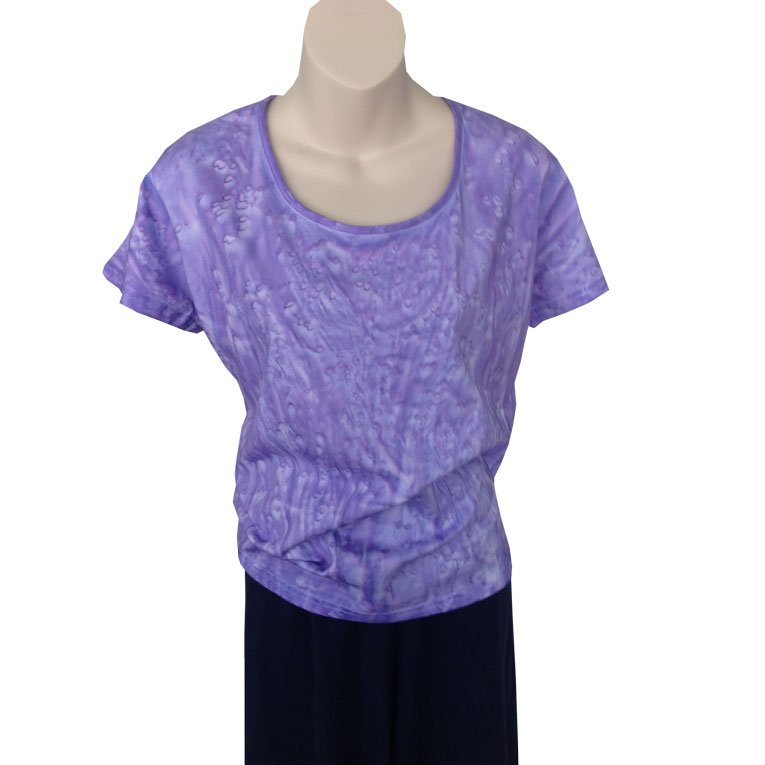 a09f937ab1c Ladies Fitted T shirt - wisteria salt wash design · Mulboo
