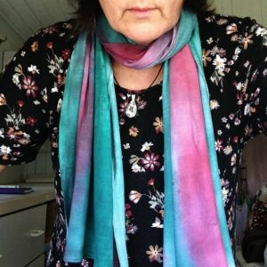 Hand dyed Scarf Lady Elliot is made from soft touch viscose