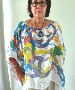 scarf ponchetta hand-dyed
